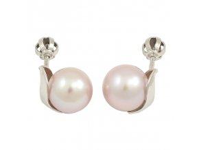 Zlaté perlové náušnice 23139/B/Pl
