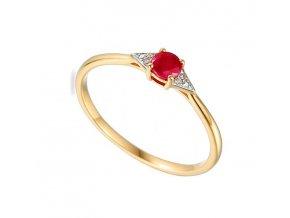 zlaty prsten s rubinom 3