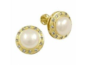 Zlaté perlové náušnice 23137/Z/PxX