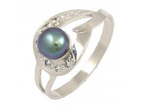 Zlatý perlový prsteň 2270/B/PX