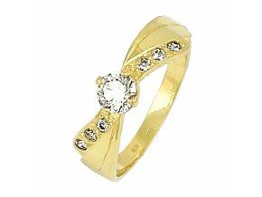 Zlatý briliantový prsteň 2201B/Z/X