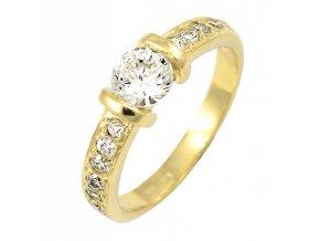 Zlatý briliantový prsteň 2245B/Z/X