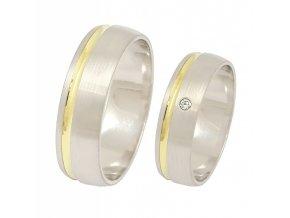 Zlaté svadobné obrúčky K-028