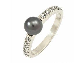 Zlatý perlový prsteň 22108/B/PyX