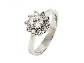 Zlatý briliantový prsteň 2280B/45/B/X