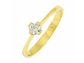 Zlatý briliantový prsteň 22105B/35VG/Z/X
