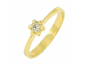 Zlatý briliantový prsteň 22109B/35VG/Z/X