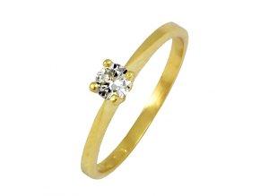 Zlatý briliantový prsteň 22107B/40VG/B/X