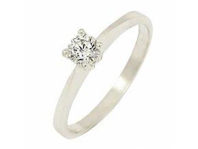 Zlatý briliantový prsteň 22107B/40SH/B/X