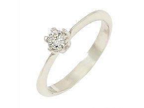 Zlatý briliantový prsteň 22109B/40VG/B/X