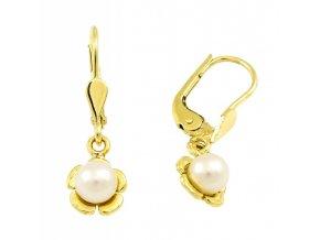 Zlaté perlové náušnice 2311/Z/Px