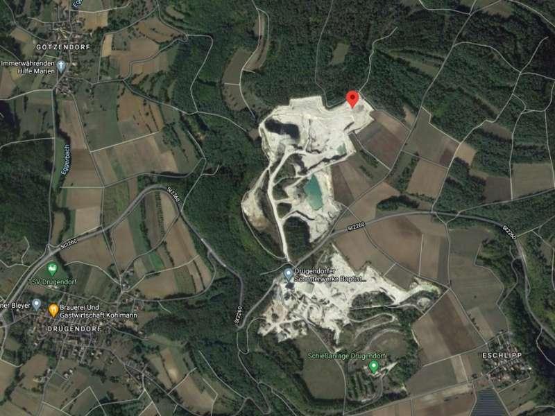 Perspektivní lokalita fosilií v Německu