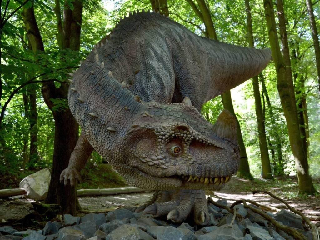 Ceratosaurus v dinoparku Vyškov