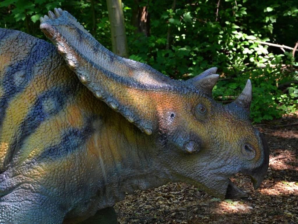 Dinosaurus v dinoparku Vyškov