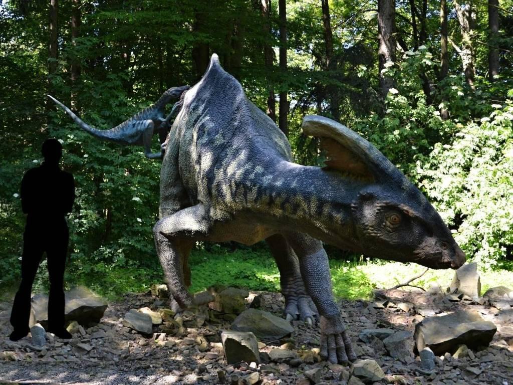 Parasaurolophus v dinoparku Vyškov
