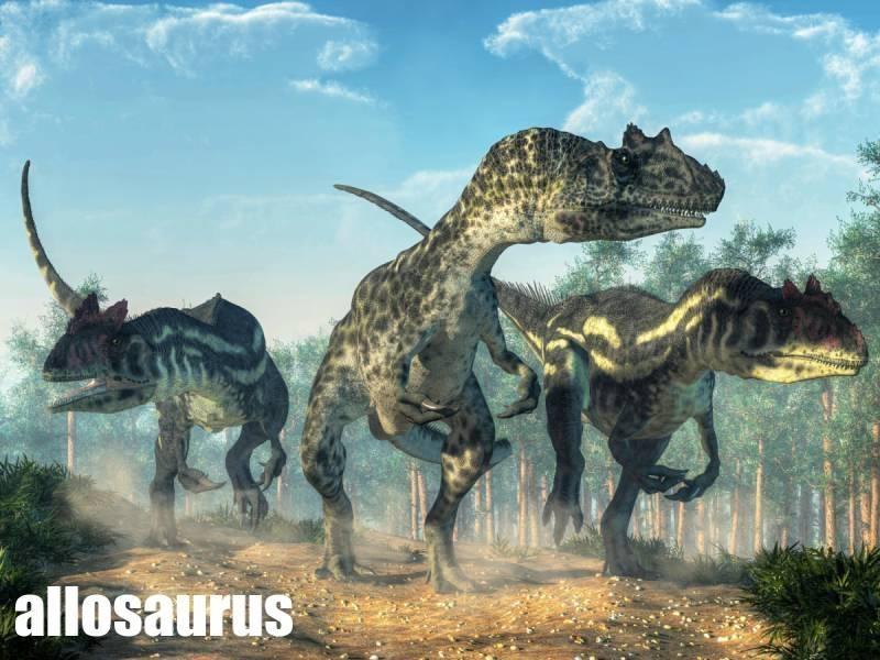 alosaurus dravý dinosaurus