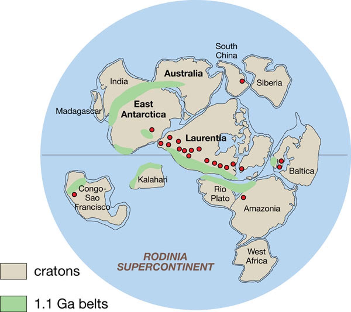 Rodinia_superkontinent