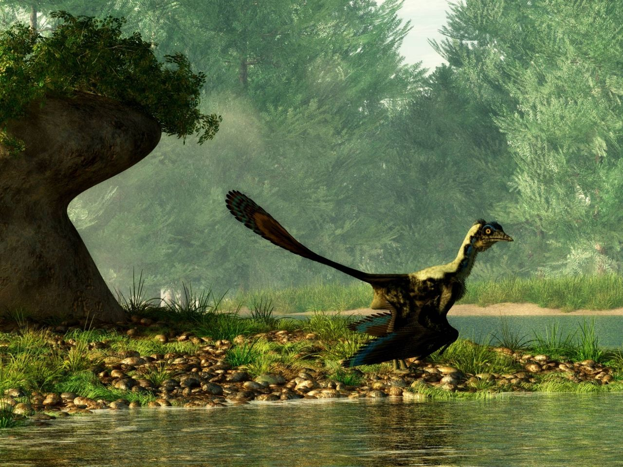 Archaeopteryx lithographica u vody