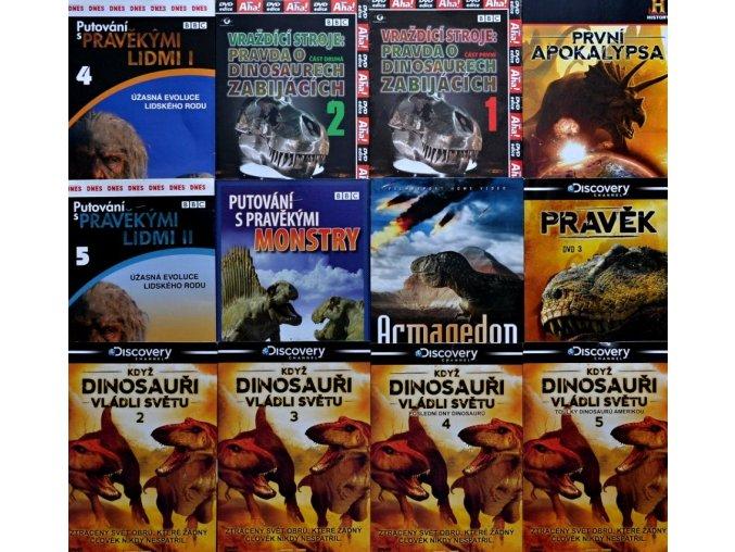 12 DVD o dinosaurech a pravěku