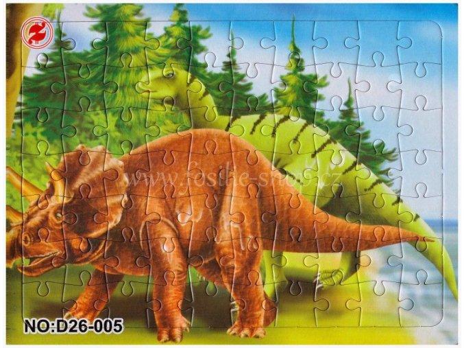 Klasické puzzle s dinosaury (č.5)