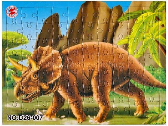Klasické puzzle s dinosaury (č.7)