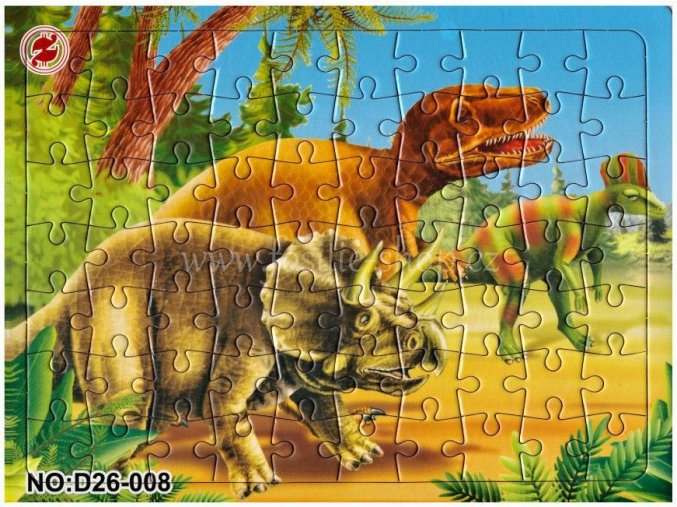 Klasické puzzle s dinosaury (č.8)