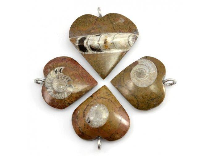 Přívěsky 4ks srdce (4)