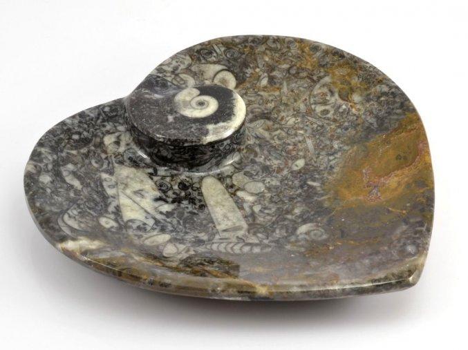 Miska zkameněliny srdce (10)