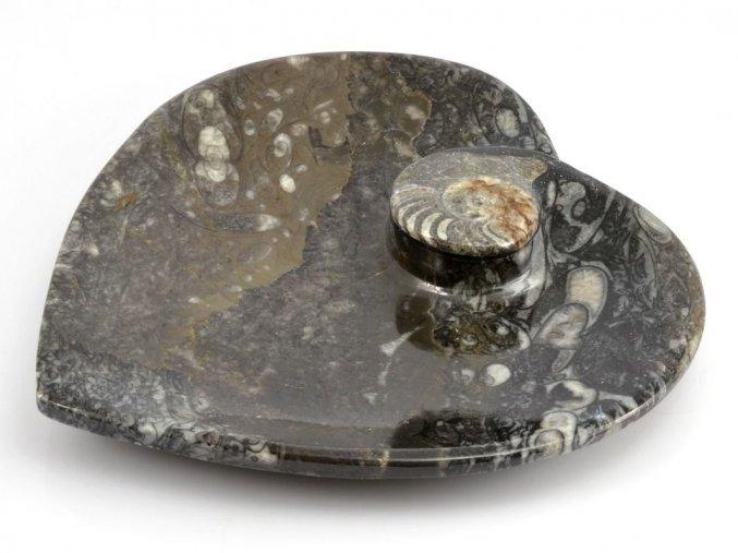 Miska zkameněliny srdce (11)