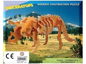 3D puzzle - dinosauři: Triceratops