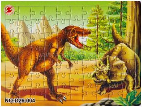 Klasické puzzle s dinosaury (č.4)