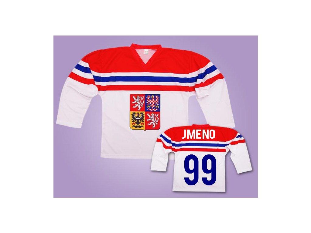 hokejový dres ČR vlastní jméno