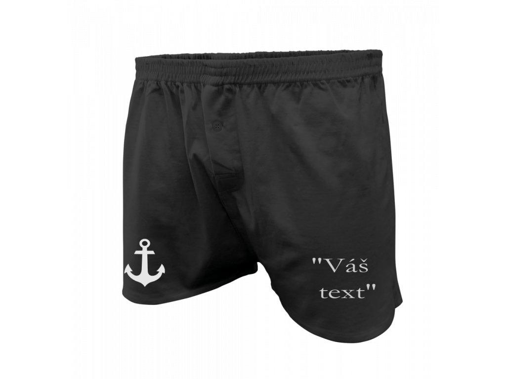 boxerky námořnické s textem