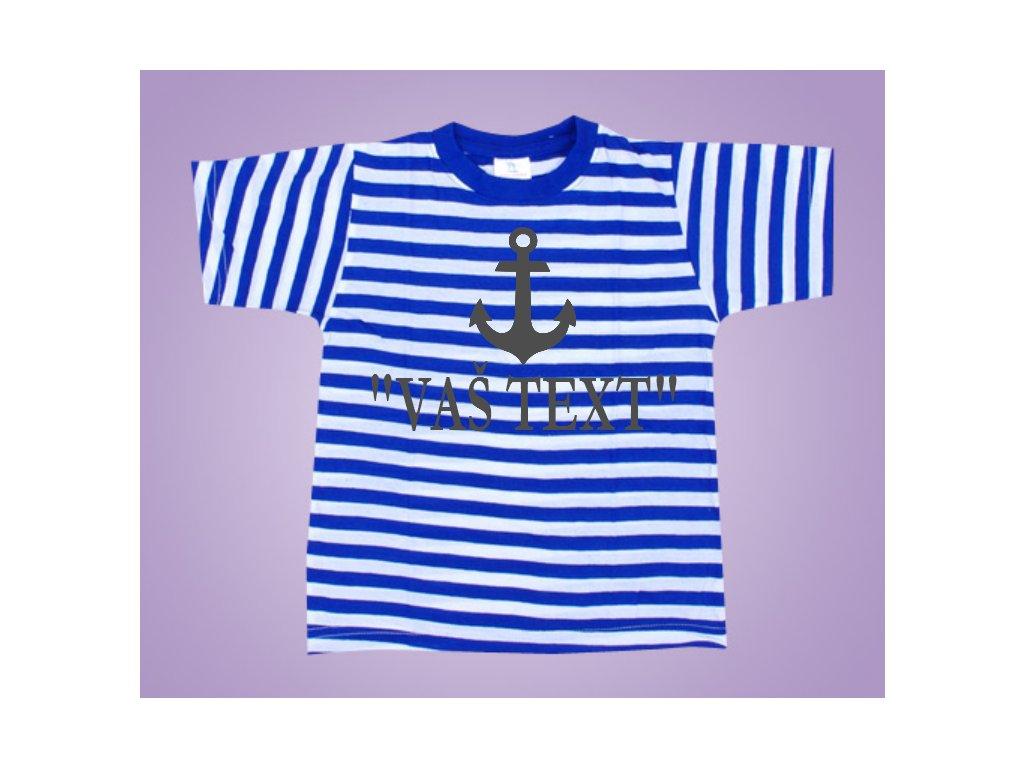 námořnické triko kotva text