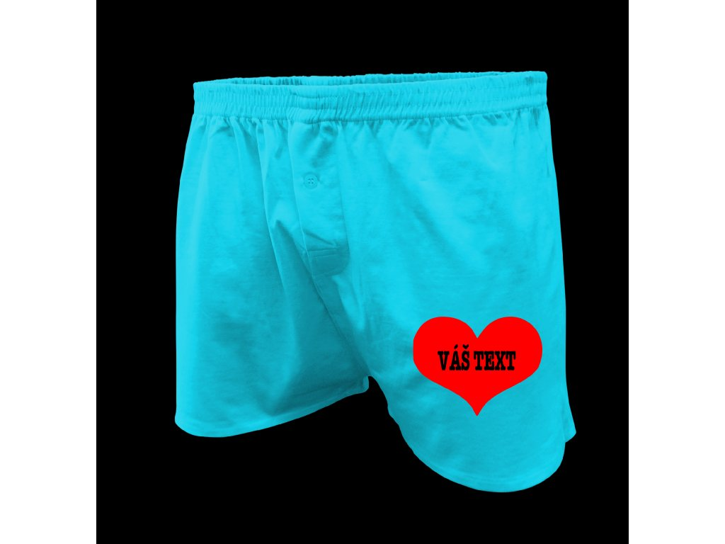 boxerky srdce - Valentýn