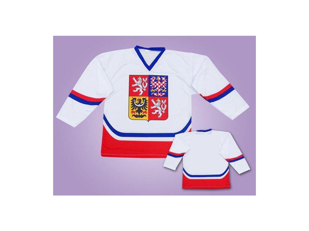 Hokejové dresy ČR bílý