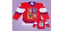 Hokejový dres Jágr červený