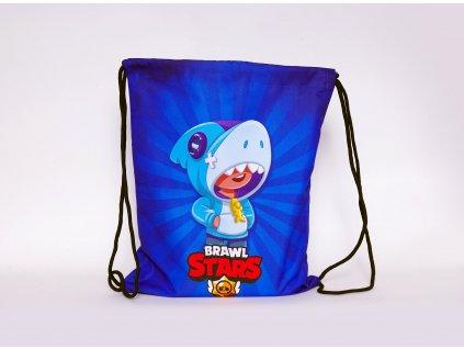 batoh zatahovací modrý Leon