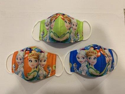 dětská rouška Anna a Elsa