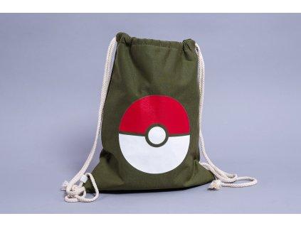 Taška zatahovací Pokemon zelená