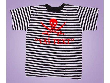tričko pirát s textem