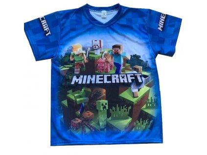 Triko dres Minecraft modré