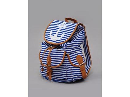 námořnický batoh modré pruhy