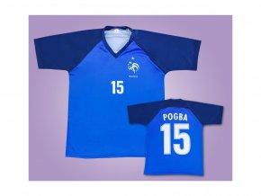 SLEVA:Fotbalový dres Pogba Francie