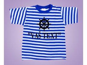Námořnické tričko kormidlo s textem