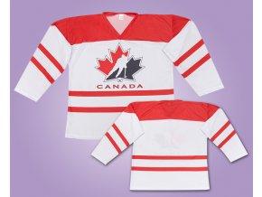 Hokejový dres Kanada bíly