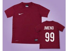 Fotbalový dres Nike vínový