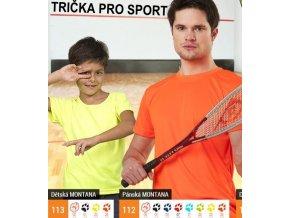 Trička dětská, dospělá sportovní s potiskem