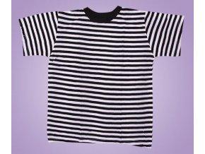 Tričko černé pruhy