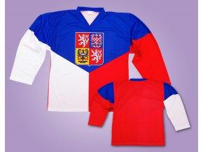 Hokejový dres čr - vlajka